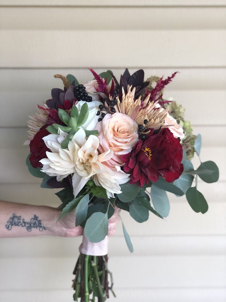White Bridal Bouquet Fall