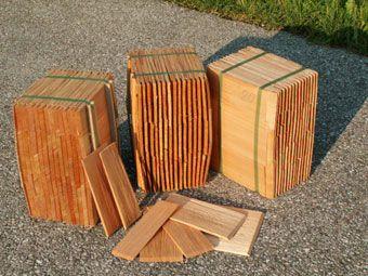 Holzschindeln, Lärche, gespalten, 20 cm lang - Dach