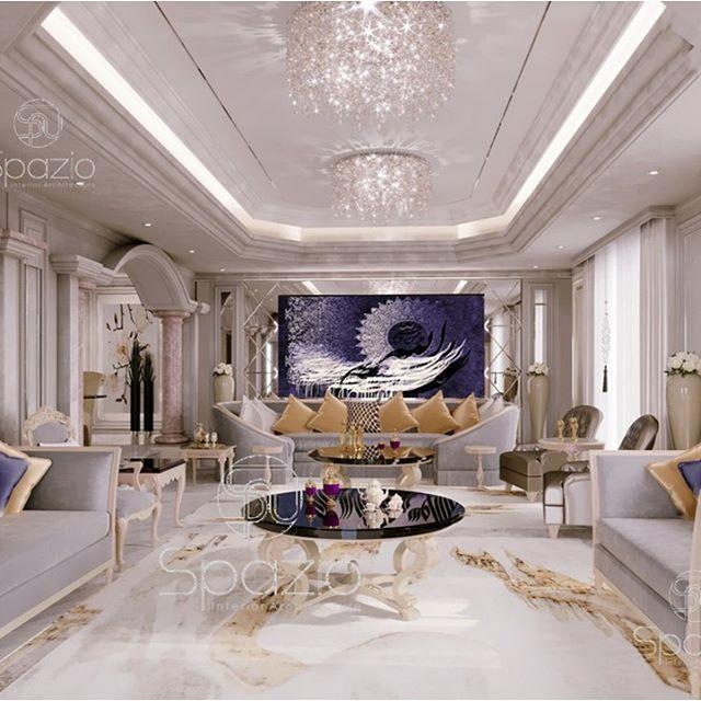 Luxury Living Room The Design Is Created By A Designer Of Spazio Majlis Arabicmajlis A Luxury House Interior Design Interior Design Dubai Interior Design