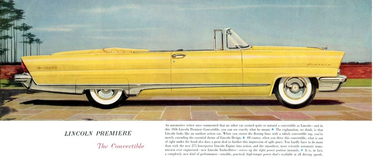 1956 Lincoln Convertible Lincoln Car Brochures