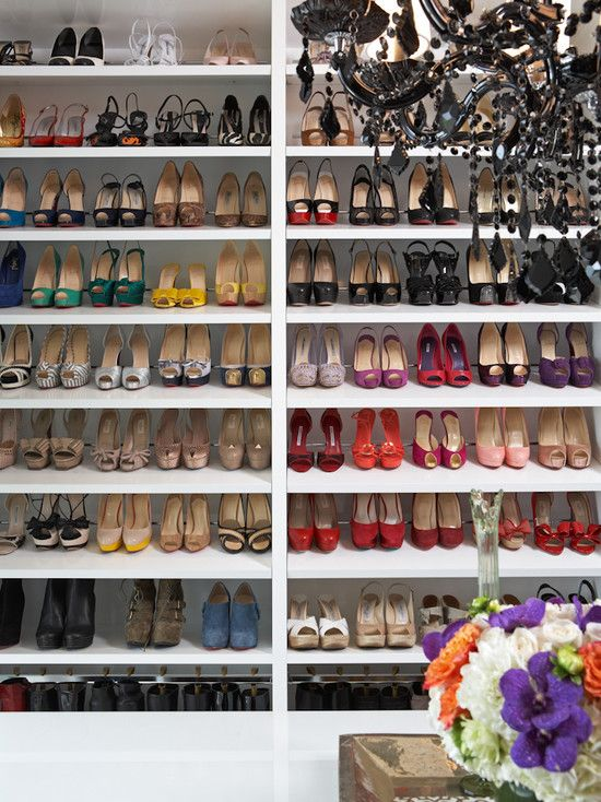 I Am Recreating This Idea For My Walkin Closet (turning Our Spare Room Into  One)! Absolutely Love The Idea For Making Use Of An Empty Closet Space And  ...