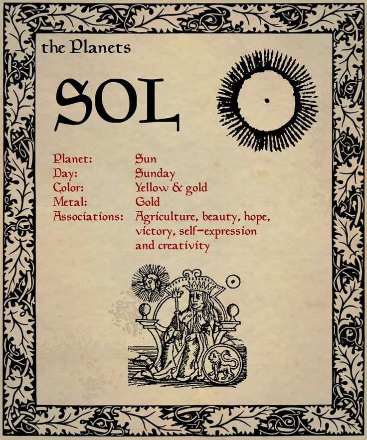 The Planets: Sol (Sun) - from the Book of Shadows 04 Page 2 by *Sandgroan on deviantART.