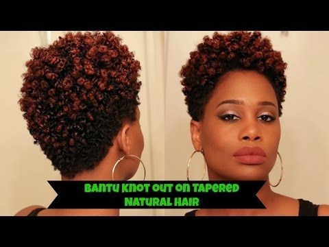 Bantu Knot Out on Tapered Natural Hair - How to | MissKenK - YouTube