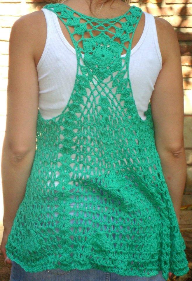 Flower Crochet Vest