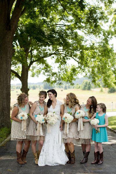 Rustic Teal Farm Wedding in Georgia Wedding Real Weddings Photos on WeddingWire