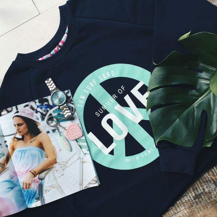 Femi Pleasure | Spring/Summer '16 | LAJOLA sweatshirt in NAVY BLUE ✨