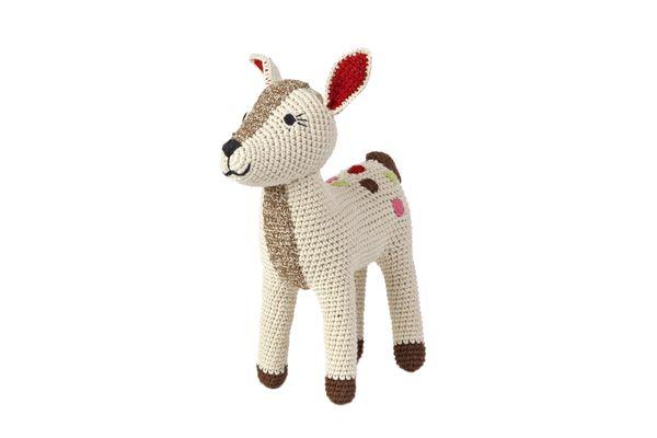 Doudou BAMBI  Crochet fait main Coton organique 16x7x23cm Prix : 45 €