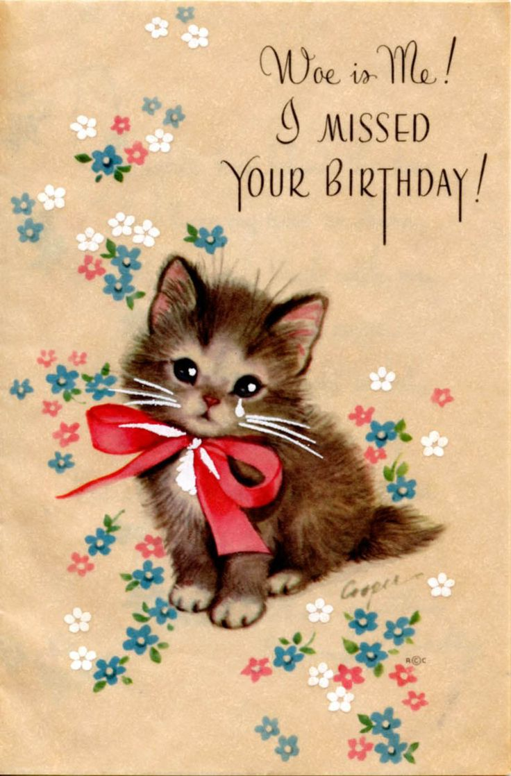 1090 Best Vintage Birthday Greeting Cards Ii Images On Pinterest