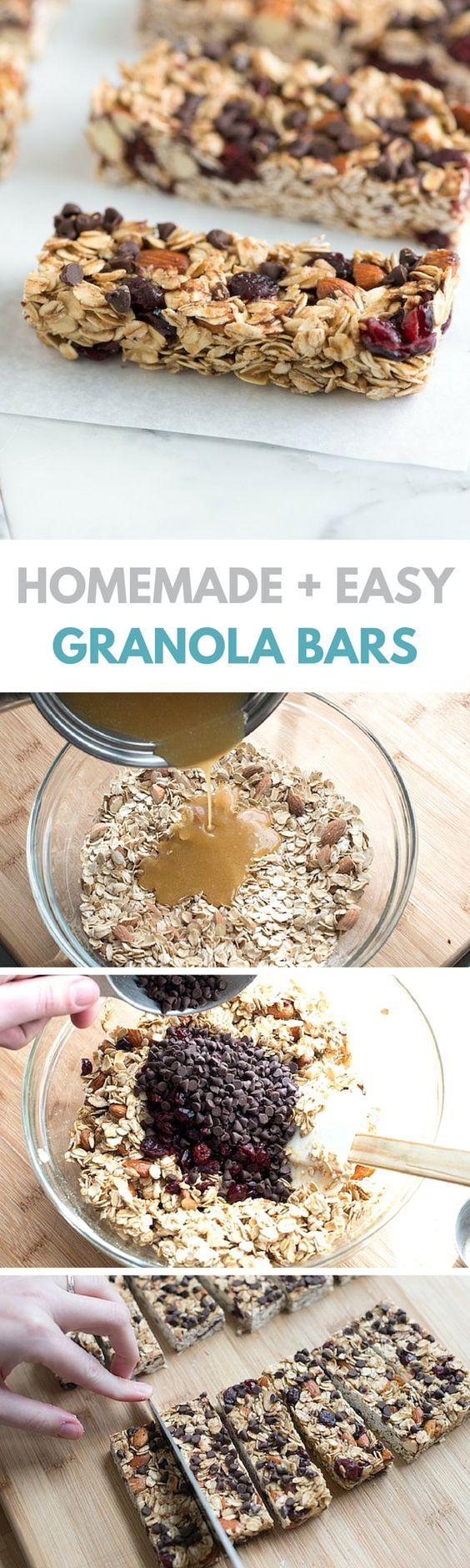 Simple, soft and chewy granola bars recipe on inspiredtaste.net