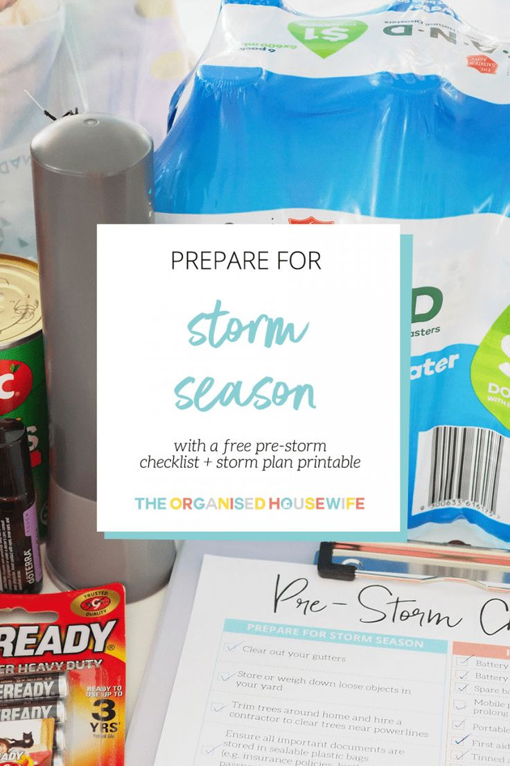 Prepare your home, family, children and pets for storm season with my essential … – Organised – Clever Ideas