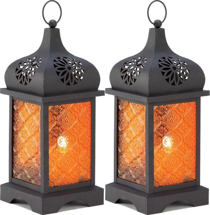 Set of 2 Temple Moroccan Candle Lanterns. #homedecor #moroccanlanterns #bohostyle #rustic #farmdecor *aff*