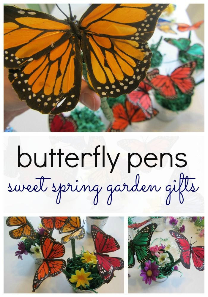 DIY TUTORIAL: how to make butterfly pens:  gift for Teacher Appreciation Week or Mother's Day!