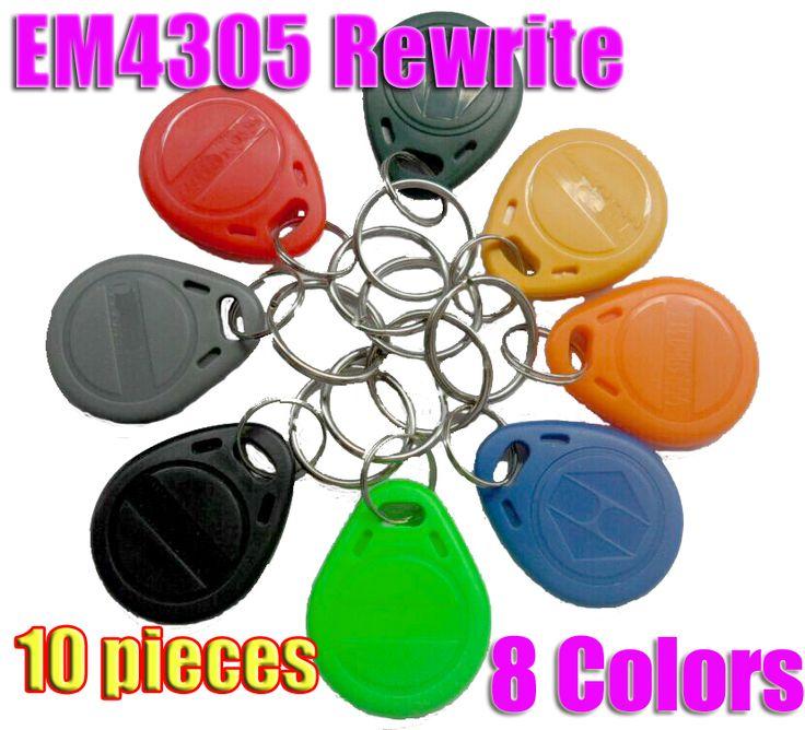 10 unids/lote Copia Writable Tarjetas Regrabables EM4305 Rfid Tag 125 Khz Keyfobs Etiqueta Etiqueta de Escritura Para Fotocopiadora