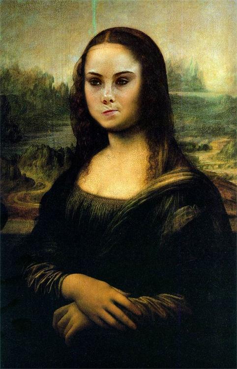 Mona Lisa is not amused. Ahahahahahahaha.