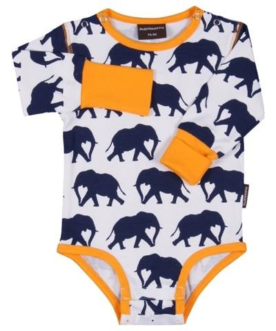 Maxomorra Elephants Bodysuit £11.99