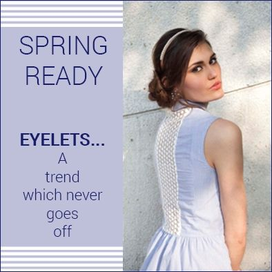 ‎Eyelets‬…. A ‪trend‬ which never goes off... ‎Shop‬ Now on www.sbuys.in ‎