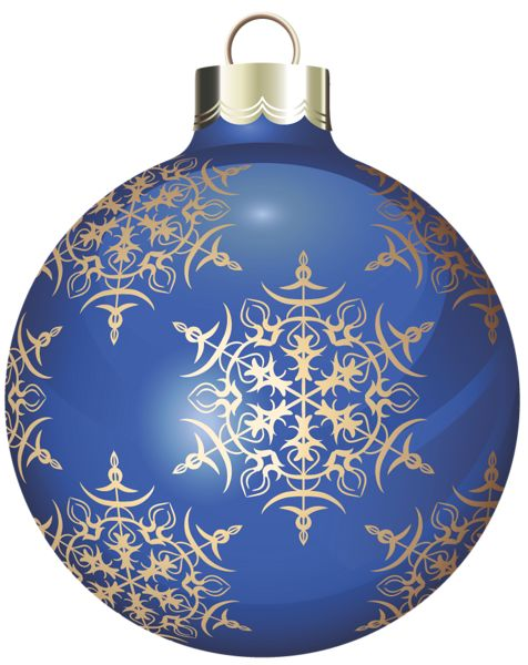 Transparent blue and gold christmas ball clipart jul for Blue and gold christmas