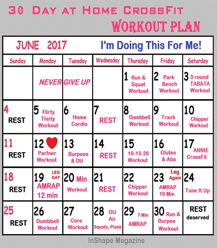 30 day at home crossfit workout plan inshape magazine