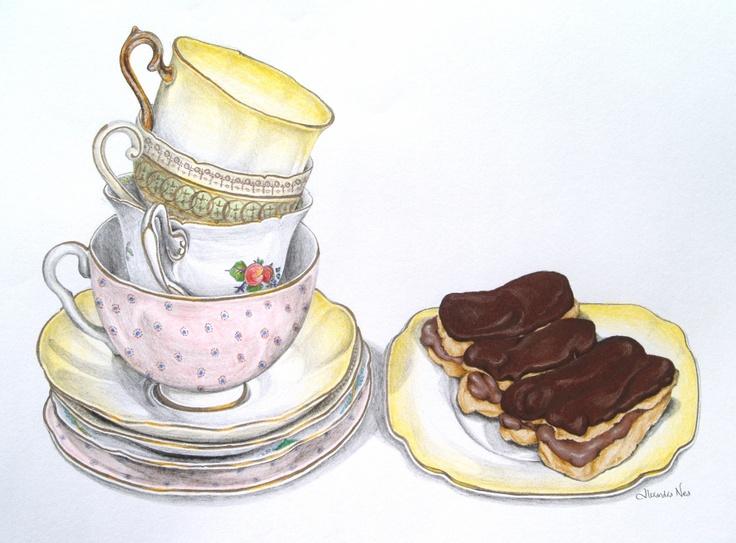 Image result for vintage high tea illustration