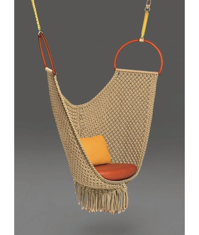 AD Collections, les pieces exposees : Swing Chair (Patricia Urquiola pour les Objets Nomades de Louis Vuitton)