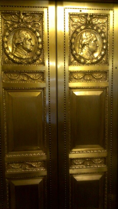 Elevator doors @ US House Representatives Longworth building main entrance.