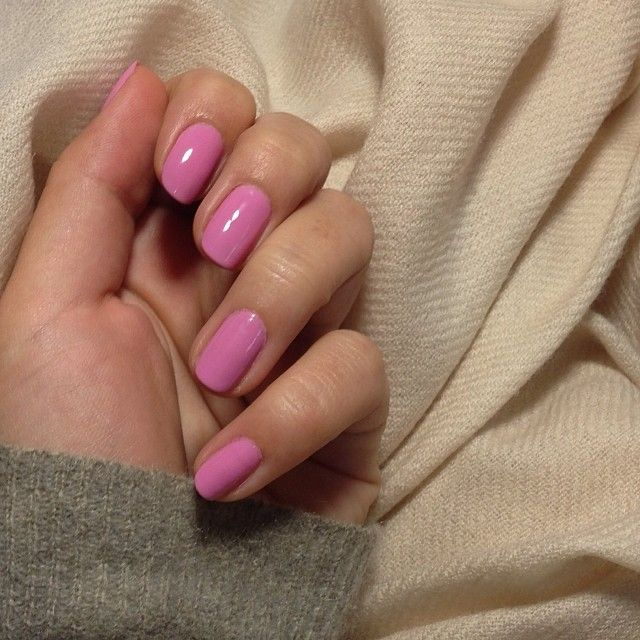Pink And Grey. YSL Nail Polish In Rose Scabiosa #48