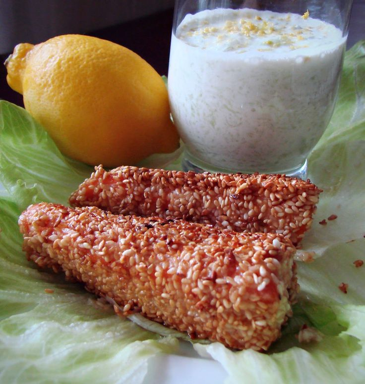 Cardamom: Salmon trout in sesame seeds with cucamber salad recipe