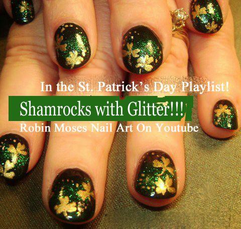 HAPPY ST. PATRICKS DAY!!! https://www.youtube.com/watch?v=NY4fbwmIrkw&index=1&list=PL0bCY3rbmmHrMG6UZJH56Hlq6WH27ku1- #nail #art #stpatricksday #stpaddysday #green #irish #nails #design #tutorial #gallery #robin moses #howto #diy #nailart #designs #shamrocks #leprechaun #clovers #pastel #spring #trends