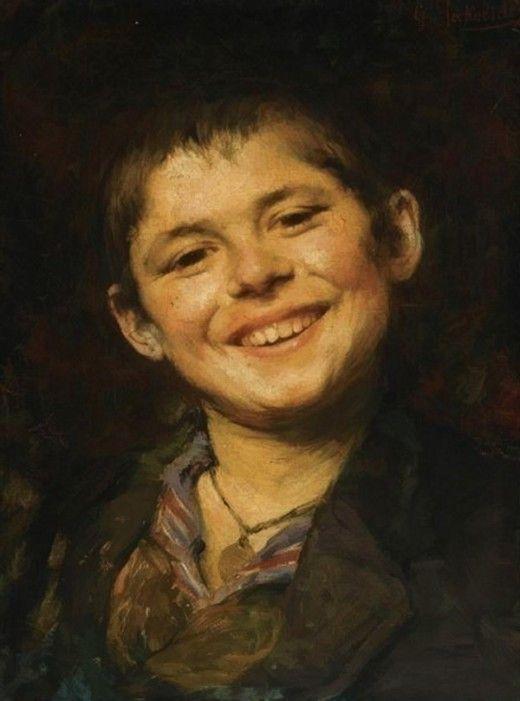 A smiling boy - Georgios Jakobides