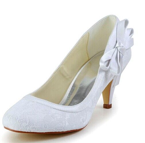 """Elegant Women's Wedding Shoes With Lace and Side Bowknot Design Color: WHITE, BEIGE, CHAMPAGNE, BLACK, RED, SILVER Size: 34, 35, 36, 37, 38, 39, 40, 41, 42 Category: Wedding & Events > Wedding Shoes   Gender: Women  Pumps Type: Basic  Toe Style: Closed Toe  Toe Shape: Round Toe  Shoe Width: Medium(B/M)  Heel Type: Stiletto Heel  Heel Height Range: Med(1.75-2.75"""")  Embellishment: Bow  Occasion: Wedding    #laceweddingshoescheap #laceshoes #weddingshoes #cheapshoes #bridgat.com"""