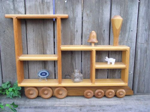 thomas the train display shelf | WOOD Train Shelf THOMAS the TANK Engine Shadow by OldMillVintage