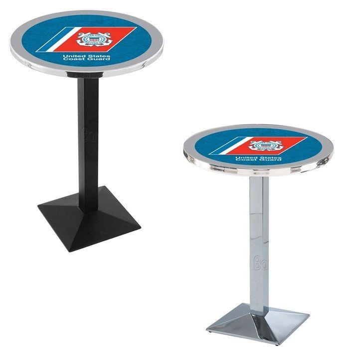 US Coast Guard Square-Base Bar Table