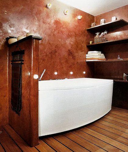 Venetian plaster in bathroom