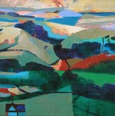 Landscape Pictures by Gerry Dudgeon from The Jerram Gallery, Sherborne, Dorset. Contemporary British pictures and sculpture