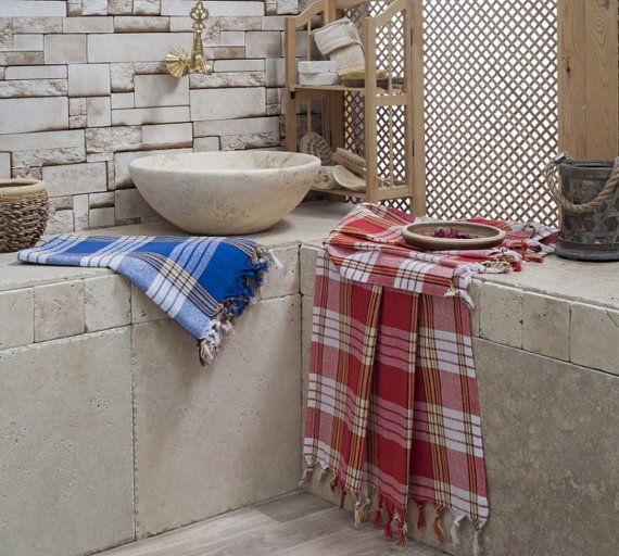 Classic Cotton Peshtemal towels Traditional Turkish by LAMEDORE