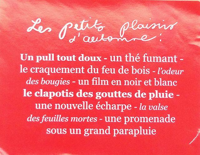 les petits plaisirs de l'automne (via my little box)