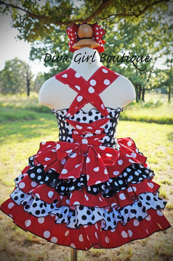 Girls Boutique Birthday Dress Minnie Mouse by divagirlboutique