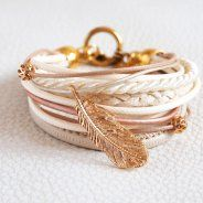 GOLDEN FEATHER- bracelet by Issi