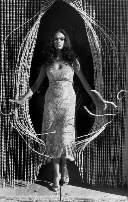 Ferdinando Scianna 1995  ITALY, Campania: the italian actress Maria Grazia CUCINOTTA