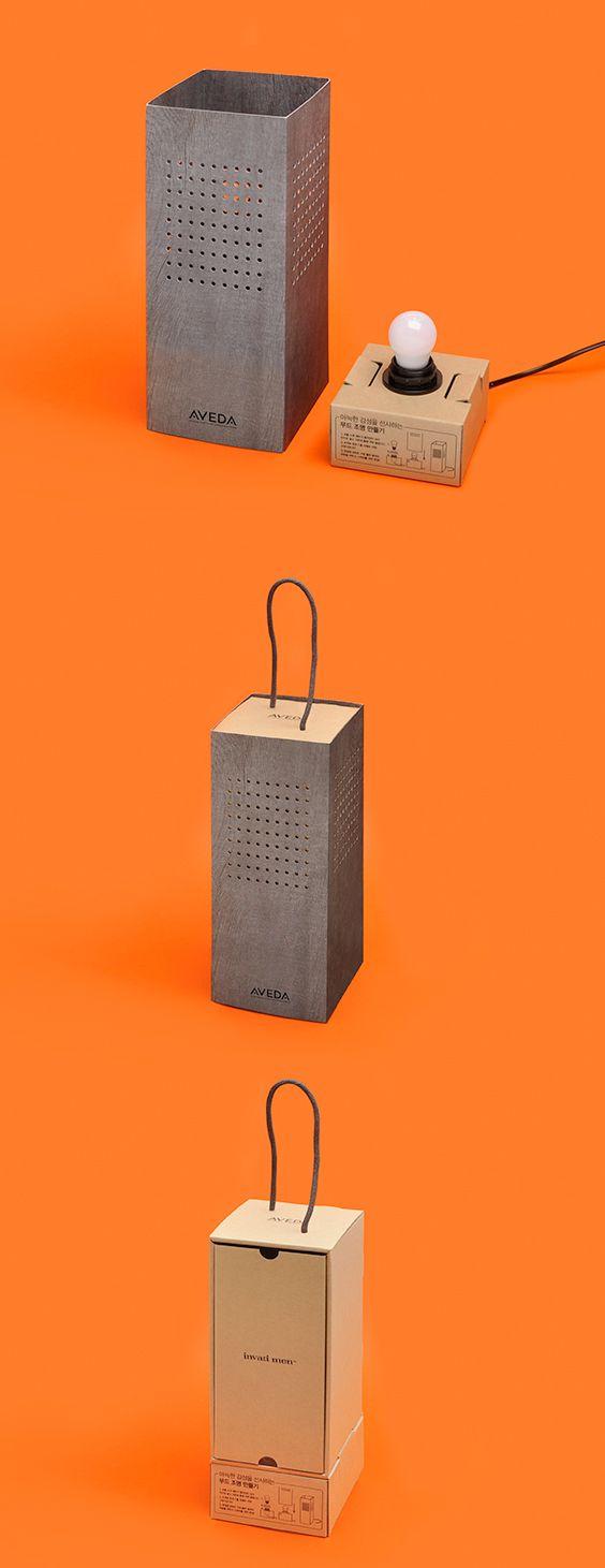 AVEDA-'인바티 맨™' 조명 프레스 패키지  cosmetics packaging design