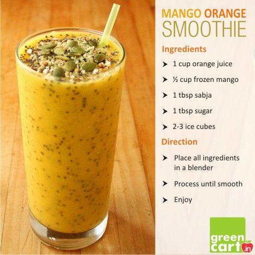 Mango Orange Smoothie!!