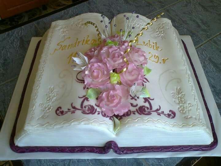 Dort marcipánový * svatební - kniha