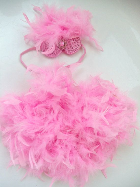 Baby  Feather Bloomer diaper cover and by mixnmatchsensations