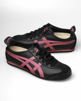 Asics Onitsuka Tiger Mexico 66 Sneakers - Black / Pink - Punk.com