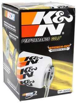Look for premium K&N Wrench-Off oil filters, distinguished by their packaging and easy-to-read features & benefits, at your local auto parts store