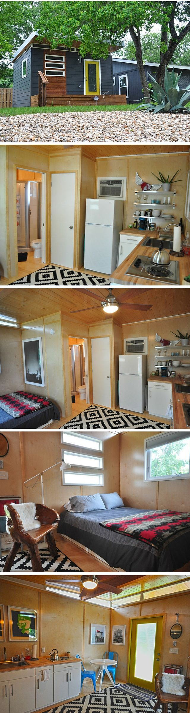 A modern prefab cabin kit from Kanga Rooms. Just 224 sq ft!