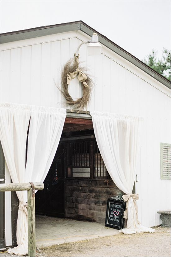 Barn wedding reception - love the drapes. Would love something similar at the entrance of the marquee   Keywords: #barnweddings #jevelweddingplanning Follow Us: www.jevelweddingplanning.com  www.facebook.com/jevelweddingplanning/