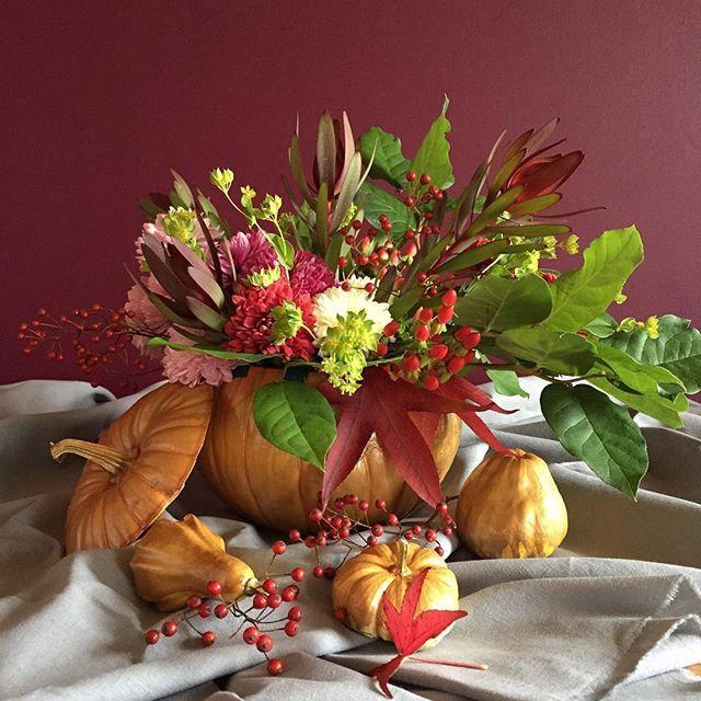 1000 id es sur le th me halloween floral arrangements sur pinterest fleurs de halloween - Composition florale automne ...