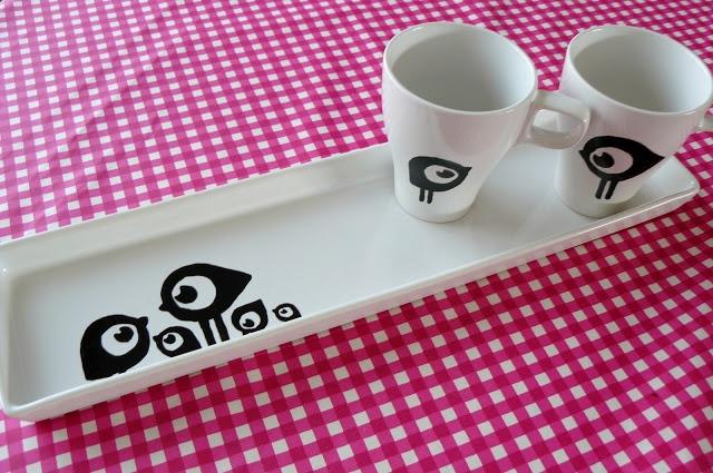 hilde@home: cadeautjes. carbonpapier en porselein stift