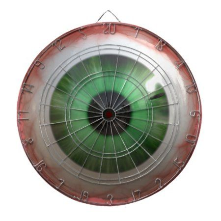 BULLSEYE Funny, Freaky Green Eyeball Dartboard - tap, personalize, buy right now!